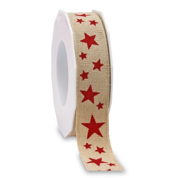 """Weihnachtsband """"Roth""""-036 2207WST25-036"""