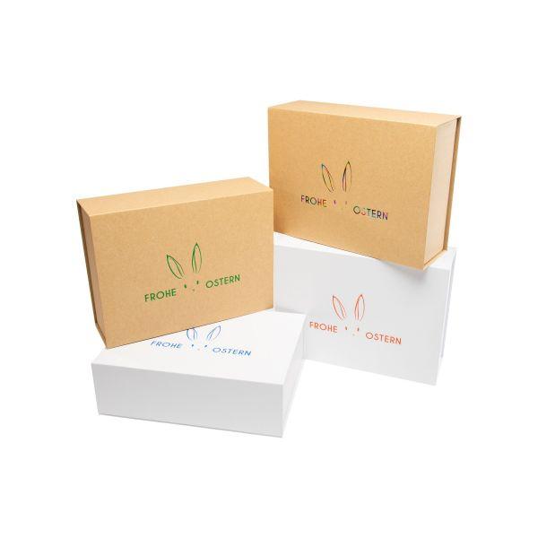 "Magnetbox ""Osterhasen"" - braune Box 1007OH23-B"